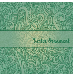 card with ornaments hand-drawn vector image vector image