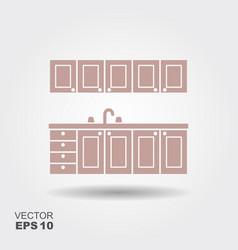 kitchen modern furniture icon vector image
