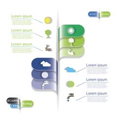 Modern design Ecology business template vector image
