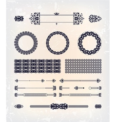 set of abstract beautiful pattern design vector image vector image