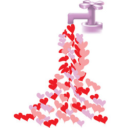 heart faucet vector image vector image