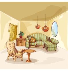 Living Room Interior Sketch vector image vector image