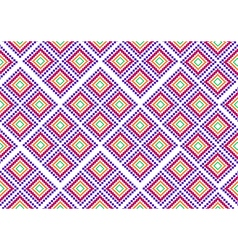 Pink purple rural geometric ornament vector image vector image