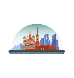 russia moscow icon in flat style vector image vector image