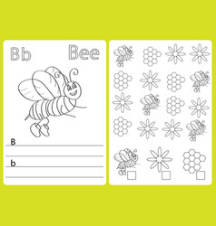 alphabet a-z - puzzle worksheet exercises for vector image