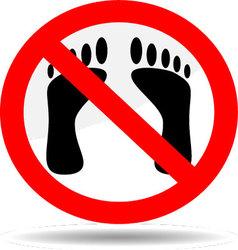 Ban foot print vector