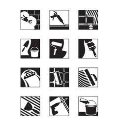 Construction adhesives and mixtures vector image vector image