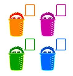 Shy Recycle bin vector image