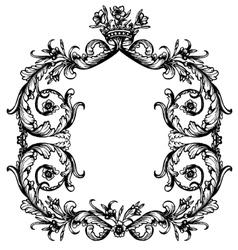 Vintage royal frame vector image