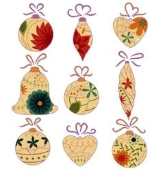 Christmas toys retro vector image vector image