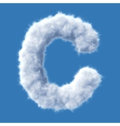 Cloud letter vector image vector image