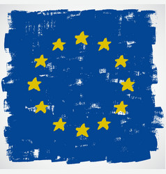 European grunge flag vector image