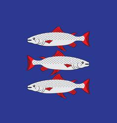 Flag of angermanland of sweden vector