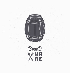 hand drawn silhouette of barrel vector image vector image
