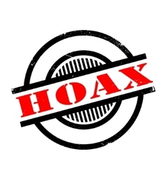 Hoax rubber stamp vector