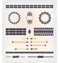 set of abstract decorative pattern design vector image vector image