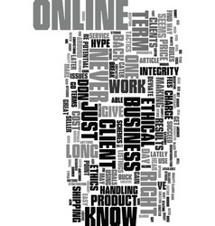 you know you re too ethical when text word cloud vector image vector image