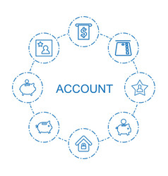 8 account icons vector