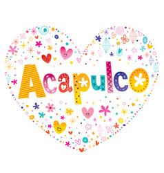acapulco city in mexico vector image