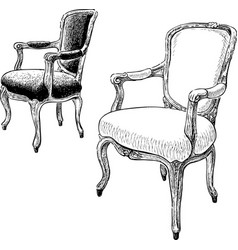 Antique chairs vector