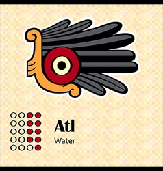 Aztec symbol Atl vector image