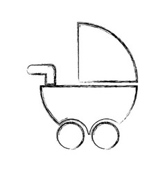 baby cart isolated icon vector image