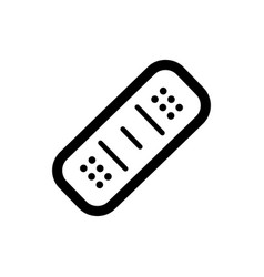 band aid icon black icon isolated on white vector image