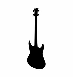 bass guitar dark silhouette vector image