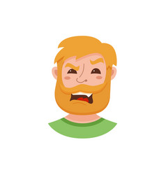 Beard men facial expression vector