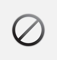 Black denied access icon design vector