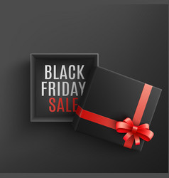 black friday sale with open vector image