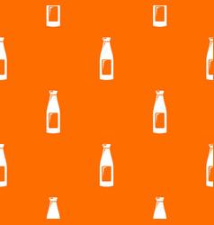 bottle cream pattern orange vector image