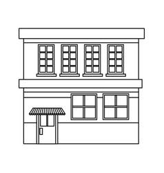 Cartoon building grocery store facade vector