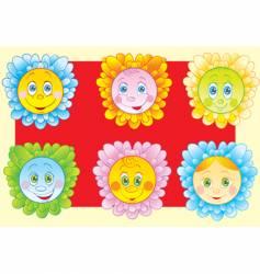 Cheerful chamomiles vector