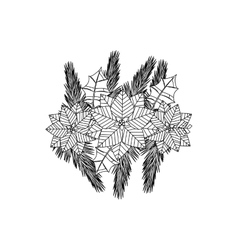 Christmas decorative symbol vector