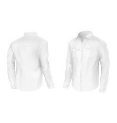 classic white shirt jacket two sides vector image