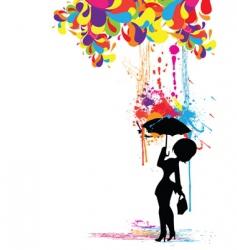 colorful rain vector image