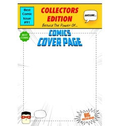 Comic Book Cover vector image