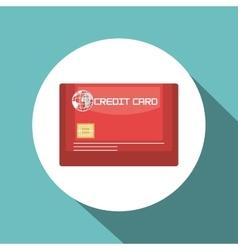 credit card blue travel design vector image