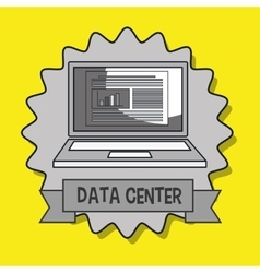 Data center laptop doc vector