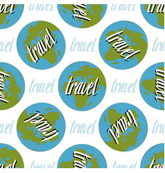 Earth seamless pattern travel handwritten vector