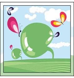 ecologic world vector image