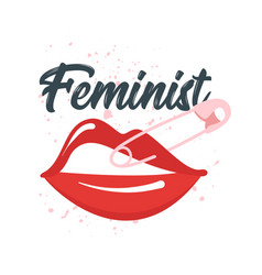 feminist slogan for apparel design vector image