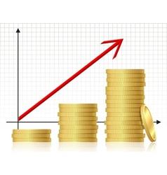 Financial success concept vector