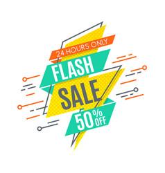 Flash sale promotion banner flat design price vector