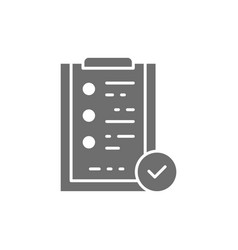 folder tablet with check mark sign quality vector image