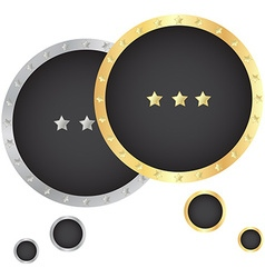 gold and silver bubble for a chat with a black vector image