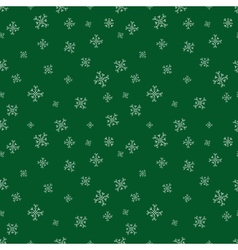 Green snowflalls seamless pattern Christmas vector image