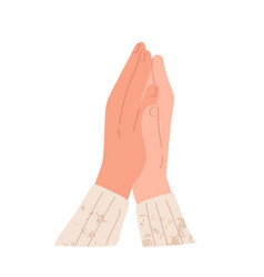 Hands applauding and clapping expressing bravo vector