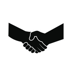 Handshake black simple icon vector
